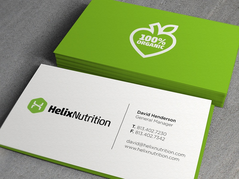 Helix Business Cards by Jonathan Howell - Dribbble