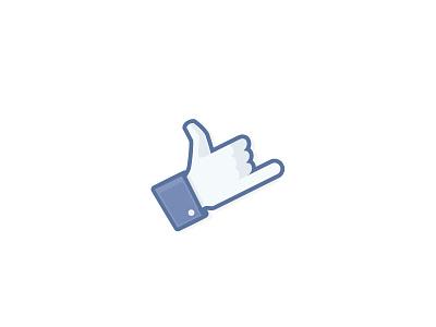 Facebook Shaka [Sticker Mule] facebook shaka hang loose hand icon logo surf sticker sticker mule scad