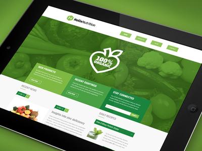 Helix Nutrition iPad UI