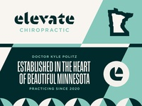 Elevate Chiropractic Brand Explorations identity design geometric angles park saint louis minneapolis minnesota medicine sports medical chiropractor brand design brand identity