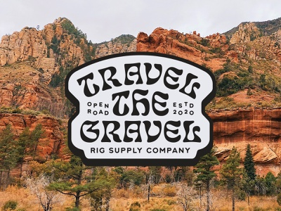 Rig Supply Co. – Travel the Gravel Cap weld mfg apparel for sale badges brand identity brand design trees rocks red rocks sedona arizona usa north america travel van life vanlife open road rig supply co branding