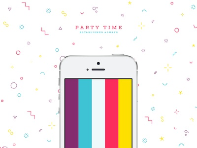 Party Time focus lab tgif party pattern fun playful colorful bright loud iphone
