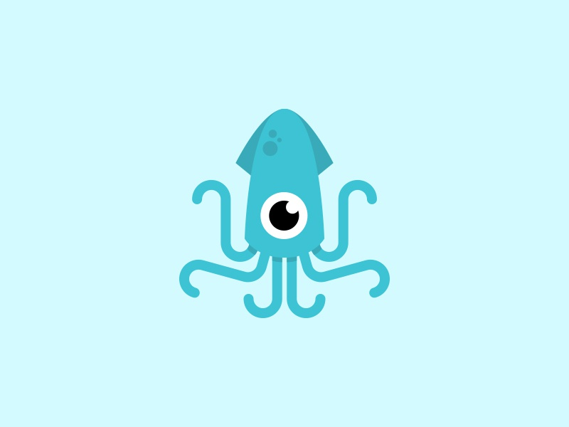Squid focus lab fun squid tentacles octopus character illustration creature