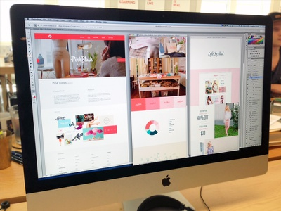Pink Blush Case Study focus lab portfolio refresh pink pink blush web ui layout branding color palette tagline photography