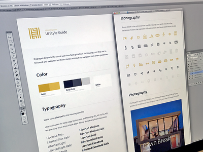 Housing UI Style Guide ui style guide housing residential home house branding brand elements user interface icons color palette