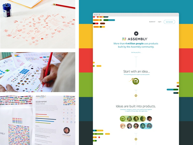 Assembly Portfolio! focus lab assembly branding ui ux process photography sketch paper pencil brand identity web