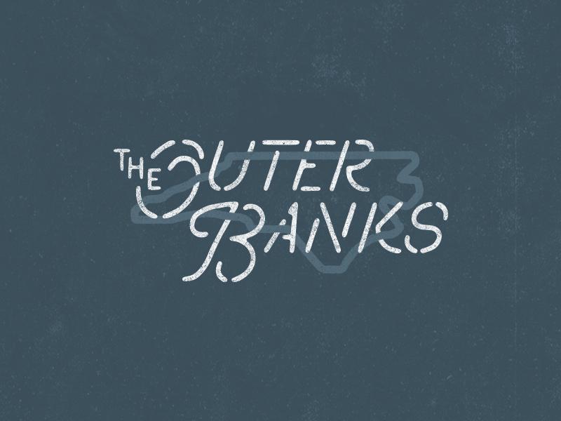 OBX type state us shirt north carolina outer banks carolina illustration typography obx