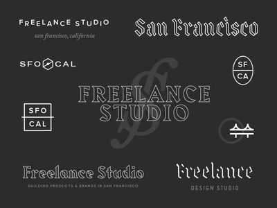 💰 Freelance Studio freelance money fun badges logotype logomark trinkets typography branding