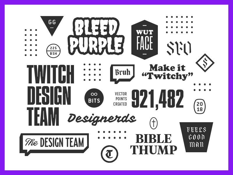 Twitch Design Team by Jonathan Howell for Twitch on Dribbble