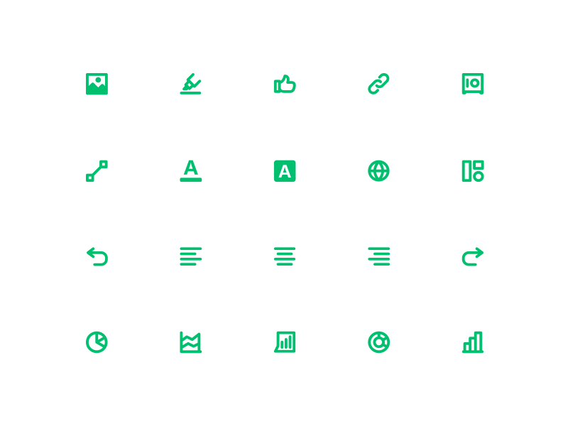 SM Product Icons globe text data viz data image interface ui brand iconography icons product design product