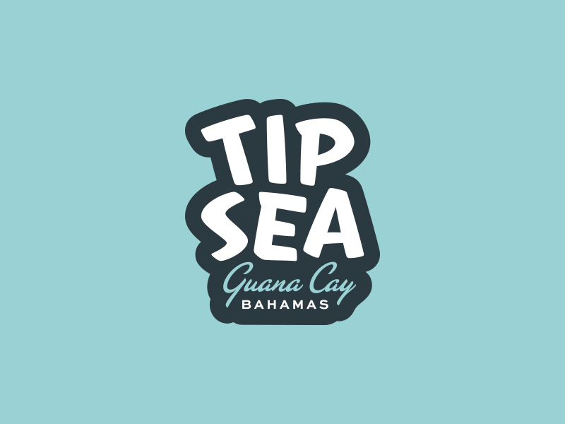 TIPSEA type typography drinking drinks simple branding badge logo fun bahamas airbnb rental vacation home party