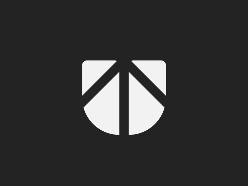 Letter U, arrow | Uptimised logo option #1 monochrome arrow up growth connection negative space logo designer logo design u monogram letter u social media marketing web design digital marketing agency