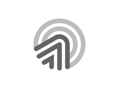 Circles & Arrows technology tech marketing target dynamic growth click ads smart connection connect clean modern minimal geometry geometric icon symbol mark branding brand logo identity logo designer logo design arrow circle
