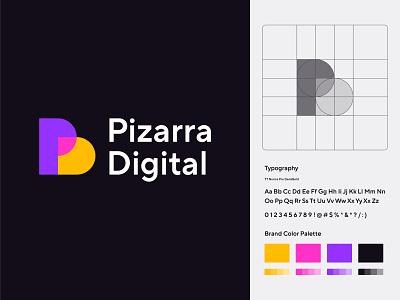 PD logo logo design branding technology tech modern minimal letter p letter d pd monogram online courses academy school education fun digital blackboard