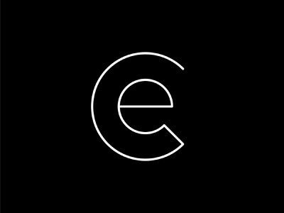CE Monogram graphic design initials logo clean smart black and white technology tech line art simple clean minimal branding ce letter logo logo design
