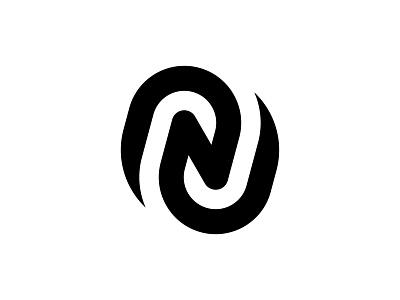 N Logo mark professional internet marketing spiral red black swirl simple dynamic modern monongram branding logo design