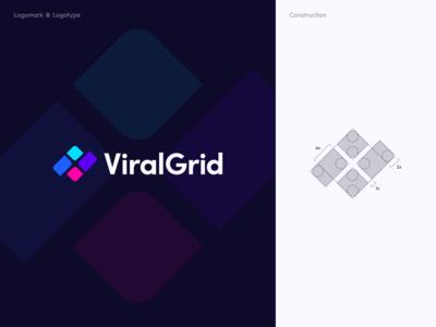 Viral Grid Logo Design