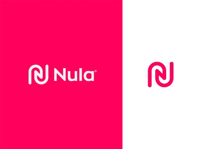 Nula Logo Design design branding mark social media marketing agency marketing letter n n logo monogram icon pink navy red futuristic modern technology logo design logo colorful minimalist tech