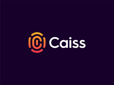 Caiss 2 tech caiss logo design letter c logo monogram fingerprint crypto transactions machine learning blockchain and mobile computing verify real identities digital signature optimistic refined secure sophisticated c gradient modern futuristic colorful minimalist crypto technology