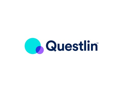 Questlin Logo Design modern gradient color overlay overlap colorful technology futuristic branding logo logo design minimalist teal blue purple navy q letter logo q simplicity people connect abstract