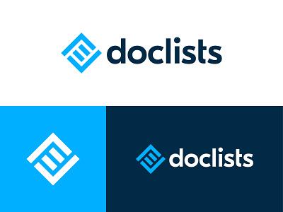 Doclists Logo Design logo logos design modern minimalistic minimalist document list checkmark collaboration tool technology