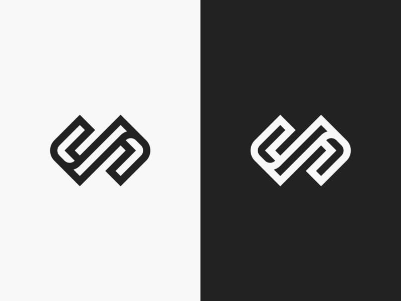 Brackets branding symbol logo designer logo design technology consulting front end back end web development coding brackets