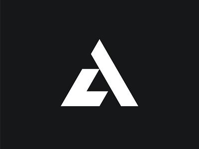LA Monogram logo letter connection l a letter connection l a minimalistic active geometric modern dynamic bold monochrome black and white logo designer for hire monogram logo