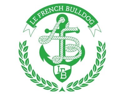 LFB Anchor design vector yacht logo badge illustration yacht club
