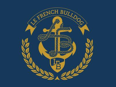 LFB Anchor Blue logo design vector yacht yacht club illustration