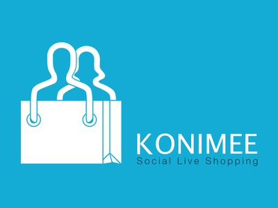 Konimee Social Shopping LOGO logo social shopping e-commerce identity ux