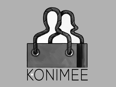 Konimee Logo Sketch  logo social shopping e-commerce identity ux sketch