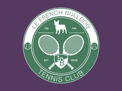 LeFrenchBulldog Tennis Club logo tshirt tee tennis tennis club branding