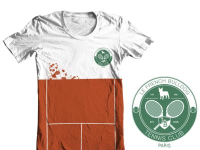 LeFrenchBulldog Tennis Club Grand Slam Collection tennis logo bulldog dog racket tee t-shirt branding