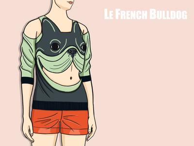 L.F.B Sweatshirt  green fashion bulldog french