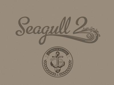 Seagull 2 Logo  handwriting logo naval typography