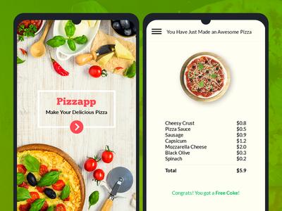 Pizzapp | Online Pizza Ordering App Concept pizza ios pizza android pizza app ux pizza app ui pizza order ui pizza order pizza pizza app interaction custom pizza order pizza ordering app pizza app
