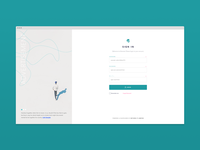 Login / Sign In Page with Advertisement concept design..