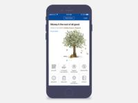 Bank App landing page