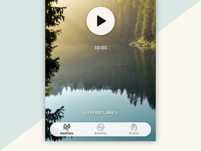 Unguided Meditation Timer streamline timer timing duration tabs tab bar tabbar navigation play meditation app