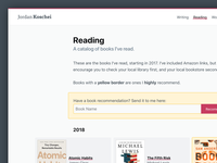 Reading Catalog + Recommendations