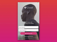 Dwell Sign-Up Screen