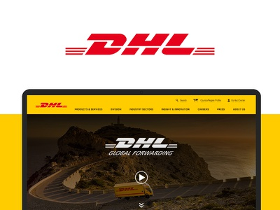 DHL Website Redesign road airlines cargo shipping case study uiux web design logistics dhl