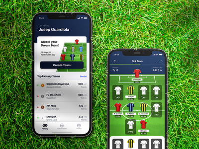 Fantasy Football App ⚽ ux ui iphone interface mobile ui team app fantasy football football fantasy
