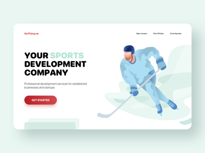 Sports Illustrations Set user inteface flat ux ui homepage procreate vector website simple character landing page people sport illustration digital illustration art illustration editorial design artwork