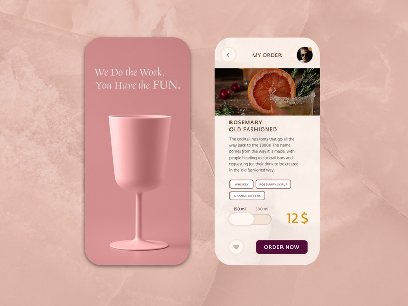 Bar app app food ordering typogaphy ui branding