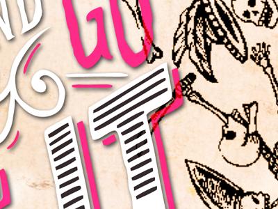 Danse macabre #1 typography letter illustration