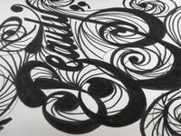 Circular Beauty (Rough calligraphy)