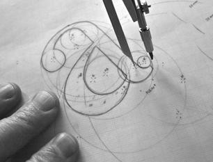 Construction de la bas-de-casse «a» guerriero typographie caractères construction fonte police