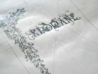 #step 1: Réalisation typographique à la main (Packaging)