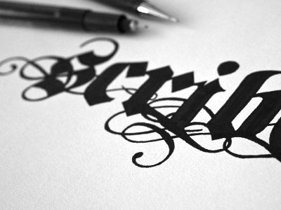 #step 3: «Scribes» {Letters} guerriero typographie calligraphie